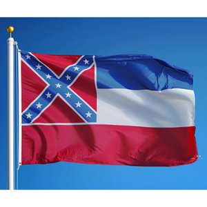 Mississippi State Flag MS State Flag 3x5ft Banner 100D 150x90cm Polyester Latón ojales Custom Flag FWF5779