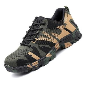 Breathable mesh men's safety anti-puncture men's shoes sports shoes steel toe shoes