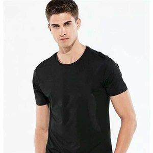 Été Hommes T-shirt Marée Célèbre Designer Imprimé Courtimé Brodé Brodé Black and White Vêtements Pour Femmes Loose Hommes --A05