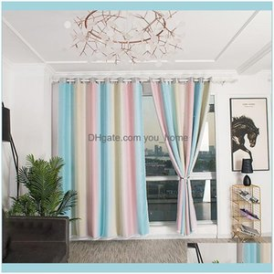 Deco El Supplies Home Gardenpanel Star Curtains Blackout Colorful Double Layer Window For Kids Girls Bedroom Living Room Decoration Curtain