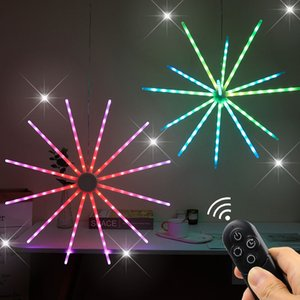RGB led lights Firework Meteor Light Strip Symphony Dynamic Birthday Christmas Party Decoration Night lighting Strobe Windmill lamp