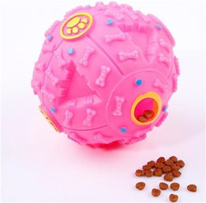 Dog Toys Pet Puppy Sound ball leakage Food Ball sound toy ball Pet Dog Cat Squeaky Chews Puppy Squeaker Sound Pet Supplies Play 297 S2