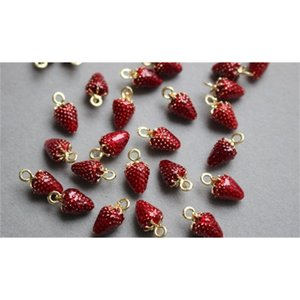 Diy Handmade Accessory-6 Pcs Potato Charm for Bracelet shock, Gold Red Small Qualitied Hanger Best Jewerly Poison