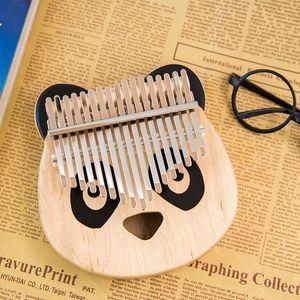 KIMI Kalimba thumb piano maple bear cute shape 17 keys easy to use light wood stability so you can create different ethereal vibrato
