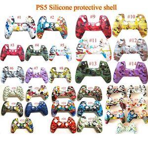 새로운 게임 컨트롤러 스킨 소프트 젤 실리콘 보호 커버 PS5 Playstation 32 색상의 고무 그립 케이스