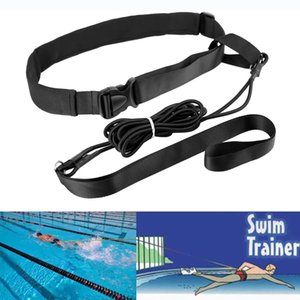 Swimming Strength Training Equipment Leash Adjustable Resistance Elastic Belt Set Traction Safety Rope Latex Tubes Pool Bungee Exerciser