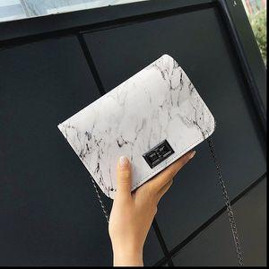 Bags for Women 2021 Marble Pattern Shoulder Bags Lock Buckle Wild Messenger Small Square Marble White Bag Designer Handbags