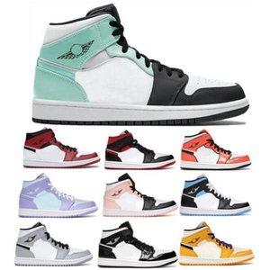 Jumpman 1 1S Mid Basketball Chaussures 2021 Designer Hommes Femmes Twist Igloo Arctique Orange Chicago Gym Gym Rouge Green Tee Lumière Fumée Sneakers