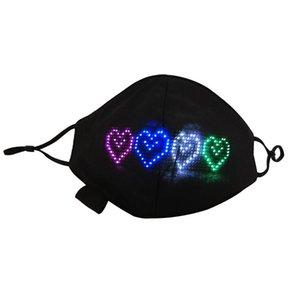 Мода Bluetooth Программируемая светодиодная маска для лица Светящийся свет для мужчин Женщины Rave Luminous Mask Rota Halloween Light Up Mask