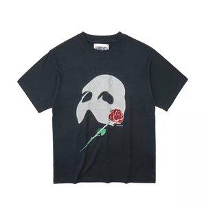 Avrupa Phantom Maskesi Gül Çiçek T Gömlek 2021 İlkbahar Yaz Moda Aşırı Boyutu Erkekler Tshirt Kadınlar Serin Pamuk Tee