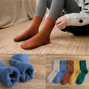 Женские носки девушки зима утолщенные теплые Терри женские трубки пола подражание кролика шерстяное полотенце носок
