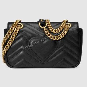 2021 Fashion Marmonts Designers Women Luxurys Evening Bag Heart Shoulder Flap Chain Handbags Classic Crossbody Clutch Tote Shopping Bags Handbag Wallets Purses