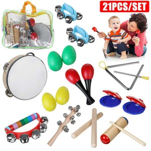 24Pcs Toddler Musical Instruments Set Percussion Instrument Toys Toddler Musical Toy Set Rhythm Band Set Birthday Gift for Kids