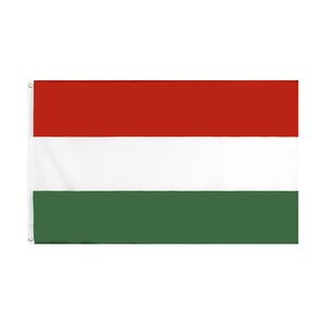 Hungary Flag Large 3x5 FT Foot Hungarian National Flags Banner 90*150cm Polyester with Brass Grommets Home Garden Wall Boat Decor