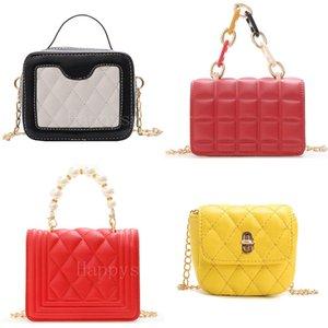 Little Girls Handbags Letter Shoulder Messenger Casual Portable Mini Geometry Fashion PU Bag