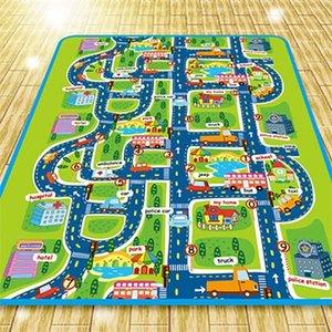 Extra große, faltbare wasserdichte Krabbelmatte, Stadtleben groß für das Spielen mit Autos und Spielzeug, Kinderpädagogische Straßenverkehr P 210320