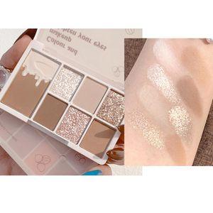 Eye Shadow 7 Color Eyeshadow Palette Makeup Glitter Long Lasting Blush Cosmetics For Women Girls HJL2021