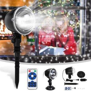 Kar yağışı projektör IP65 Hareketli kar açık bahçe lazer lamba yılbaşı kar tanesi ışık yıl partisi çim lambaları için