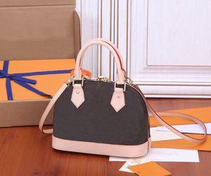 Top Quality Handbags Women Leather ALMA BB Shoulder Shell Bag Luxury Messenger Bags Fashion Bag Women Totes Designer Cross body Bag Purse M53152