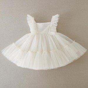 Girl's Dresses HETISO Baby Girl Baptism Toddler Christening Gowns Children's Clothes Summer Birthday Wedding Dress For Born 3-24