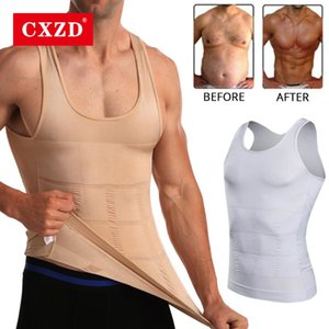 Men's Body Shapers CXZD Slimming Shapewear Corset Vest Shirt Compression Abdomen Tummy Belly Control Slim Waist Cincher Sports Underwear