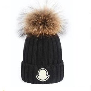 Adults Thick Warm Winter Hat For Women Soft Stretch Cable Knitted Pom Poms Beanies Hats Womens Skullies Girl Ski Caps