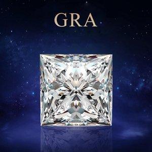 Szjinao Real 100% Loose Gemstone Moissanite Diamond 1.5ct 6.5mm D Color VVS1 GRA Moissanite Princess Cut For Diamond Ring Making