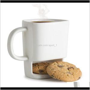 Creative Ceramic Milk Cups With Biscuit Holder Dunk Coffee Mugs Storage For Dessert Christmas Gifts Ceramic Cookie Mug 5Uepa Ku58R