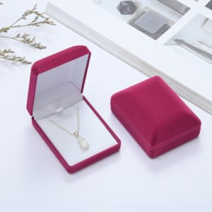 gJk high grade spray velvet pendant pendant boxes flocking packaging boxes flannel earrings brooch jewelry packaging jewelry