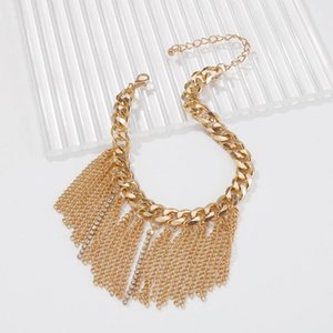 Anklets Retro Claw Chain Tassel Thick Alloy Anklet Rhinestone Design Beach Foot Ornament Wedding Body Jewelry For Women Girl