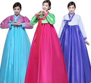 Азия Ханбок Формальные платья Корейский традиционная одежда Женская одежда танцулька Pec.formance костюм этническая