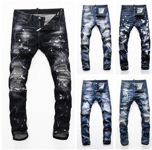 Jeans Skinny Skinny Skinny da uomo Modo Slim Moto Moto Moto Biker Causal Mens Denim Pants Hip Hop Man Jean Big Men