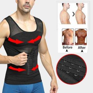 Mens Body Shaper Compression Shirts Abdomen Shapewear Tummy Slimming Sheath Gynecomastia Shapers Corset Waist Trainer Fajas Tops Men's