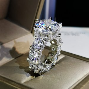 Luxury Mens Wedding Rings Fashion Stones Gemstone Engagement Ring For Women Full Diamond Ring Jewelry