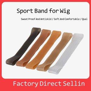 Non Slip Wig Gripper Silicone Grip Head Band Unisex Rop Shaped Sport Elastic Hair Wrap Headband Clear Sports Hairband Skin Black Colors G551I63