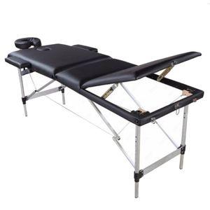 Portable Massage Bed, SPA Facial Beauty Furniture, 3 Sections Folding Aluminum Tube, Bodybuilding Table Kit sea ship HHE9548