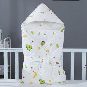 Новорожденный ветрозащитный накидливый одеяло младенческой хлопковой марлевой крышки Детская доставка засвоение Room Swaddling Ткань полотенца Детское спальное мешок покрыты OWC6870