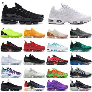 Airmax MAX PLUS scarpe da uomo donna off white TN GRANDI TAGLIE US 13 women mens STOCK X running shoes High Quality trainers sneakers Pink Triple White runners shoes