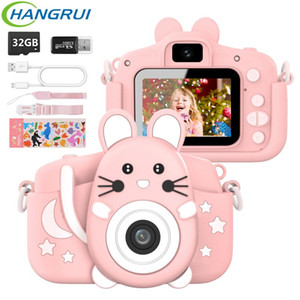 Digital Cameras Child Camera 1080P HD Video Selfie Music Cartoon Kids Educational Toys Kamera For Girl Boy Birthday Gift