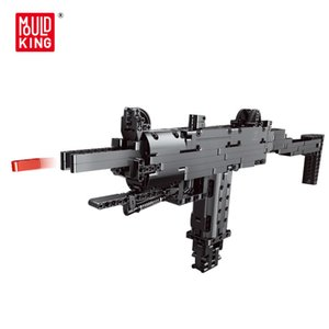 Mould King Weapons Uzi Assembling Model Moc Bricks Blocks Boys' Toys Pistol Gun Building Block Educational for Children