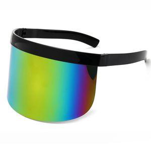 Fashion Classic Oversized Eye Protection Windproof Unisex Shield Visor Mask Sunglassc