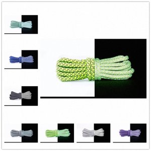 2021 Shoelace Unisex Ropes Multicolor Waxed Round Cord Dress Shoe Laces Diy High Quality Solid 100-150Cm Colourful 14 s3al#