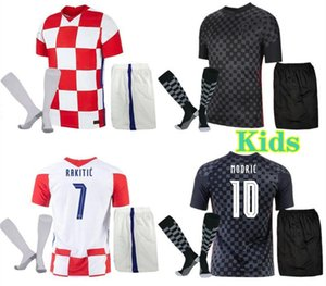 Kids Modgric Soccer Jersey Sets 2021 22 Домашняя Перонаправленная Мандзукическая Ракитана SRNA Ковахич Детская Футбольная Рубашка Комплект Носки