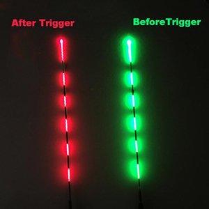 Smart Pesca Float Bite Alarma Fish Bait LED Color Color Cambio Cambio Automático Noche Electrónica Boya Strike Intelligent B315 Accesorios