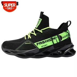 Diseñador de moda hombres zapatos casuales de alta calidad liviano transpirable blada suave suela zapatillas de deporte para hombre de malla de verano de verano # OI2E