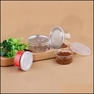 Dinner Service Packing Office School Business & Industrial100Ml Clear Plastic Jar Pet Packaging With Metal Lid Airtight Tin Can Pull Ring Bh