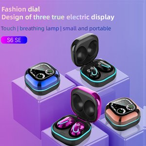 S6 SE Plus TWS Bluetooth Earbuds Earphones Touch Control True Wireless Stereo Headset Headphones With Mic Charging Case LED Battery Display