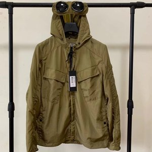 Metal nylon two glasses GOGGLE men jacket casual CP hoodies outdoor windbreak black army green orange