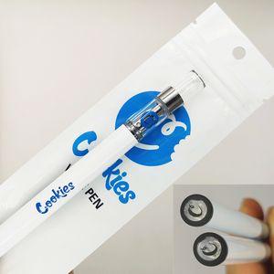 쿠키 일회용 전자 담배 일회용 vape 펜 장치 포드 스타터 키트 280mAh 배터리 0.5ml 용량 1.8mm 오일 홀 쿠키 카트리지 포장