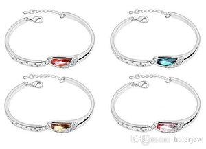 Bracelets & Bangles Fashion Jewelry Plated Alloy Rhinestone Glass Crystal Bracelet Fashion Jewelry Charm Bracelets